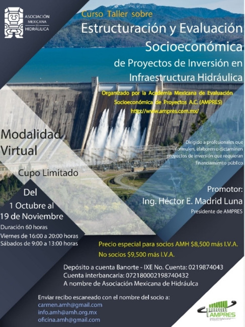 Estructuración y evaluación socioeconómica de proyectos de inversión en  infraestructura Hidráulica