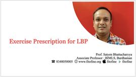 Exercise Prescription for LBP
