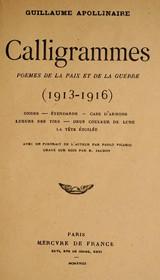 Calligrammes, d'Apollinaire