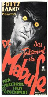 Das Testament des Dr. Mabuse, de Fritz Lang