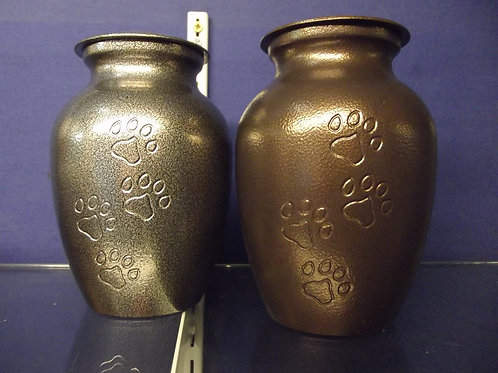 Classic Steel Urn w/ Paw-prints
