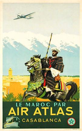 Affiche Maroc par Air Atlas