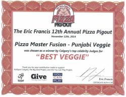 2014 - Pizza Pigout - Best Veggie