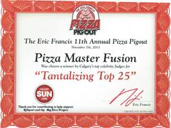 2013 - Pizza Pigout - Top 25
