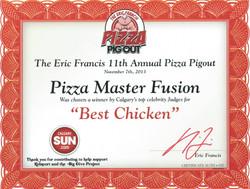 2013 - Pizza Pigout - Best Chicken