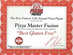 2013 - Pizza Pigout - Best Gluten-Free