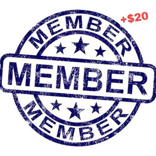 Pride Productions 2019-20 Membership + $20 Donation