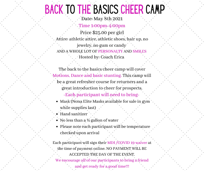 Copy of Back to the Basics cheer Camp Da