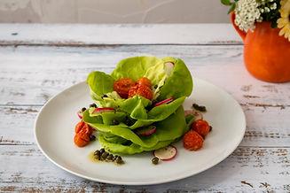 Bibb Lettuce and Blistered Tomato Salad.