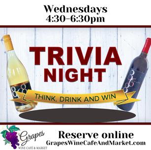 Trivia Wednesdays 4:30-6:30 pm