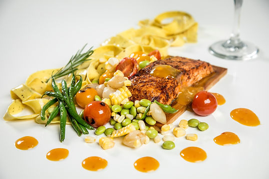 salmon on a biard.JPG