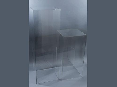"Clear Acrylic ""Box"" Pedestals"