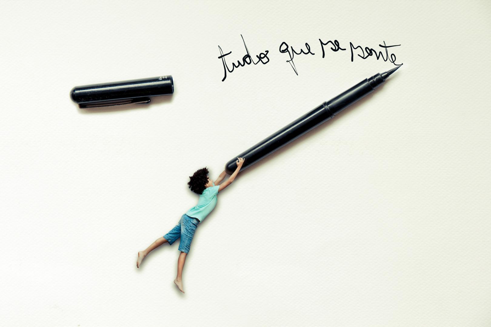 Foto menino: Angélica Pretto Arte: Fernando Barbosa & Xan