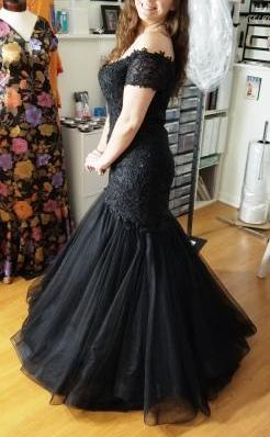 Knockout Black Mermaid Prom Dress