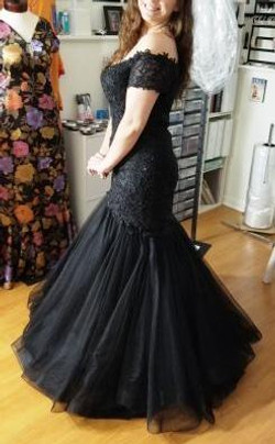 Knockout Black Mermaid Prom Dress