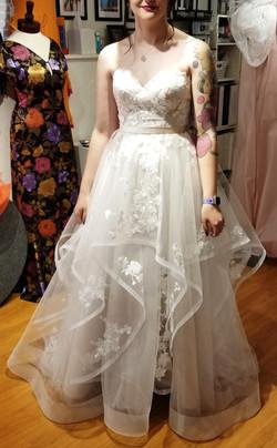 Tiered Organza Wedding Gown