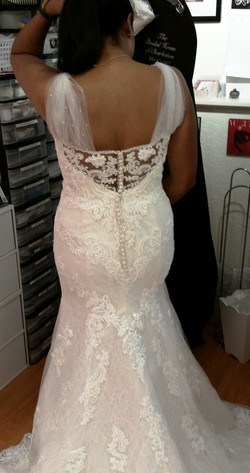 Custom Straps on Sculpted Gown