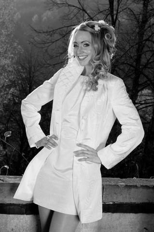Sheath dress with matching coat