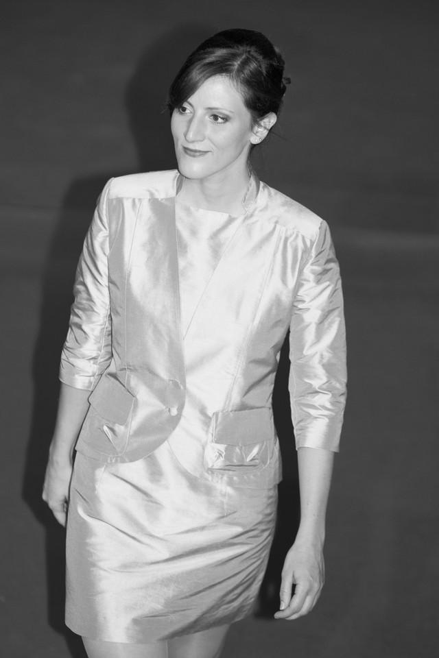 Sheath dress and short jacket in silk