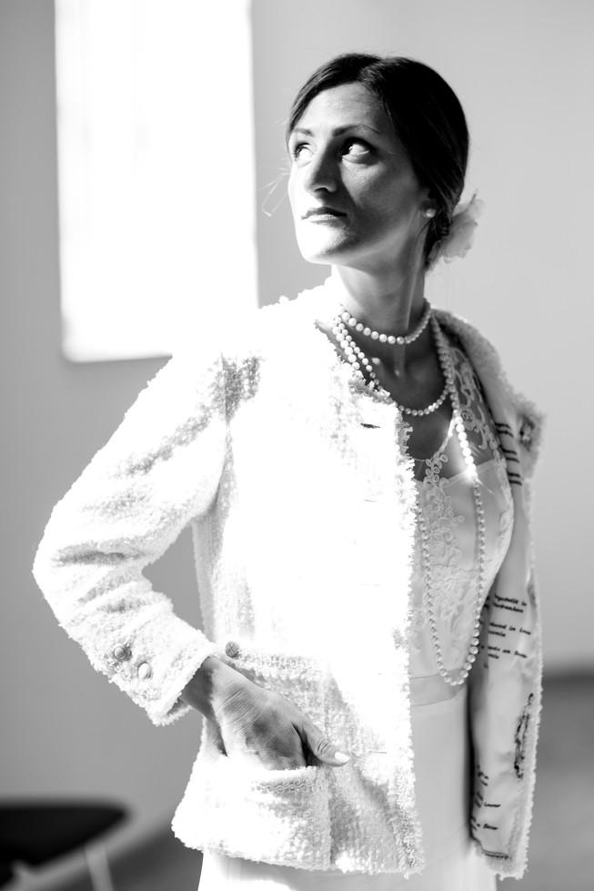 Kurzjacke im Chanel-Stil mit Seidenfutter