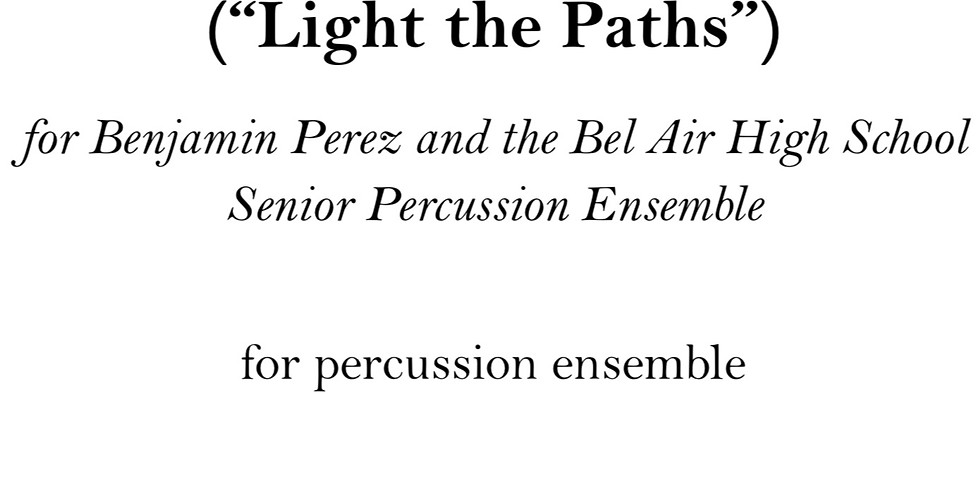"""Williams College Percussion Ensemble - performance of """"Lux Semitae (Light the Paths)"""""""""""