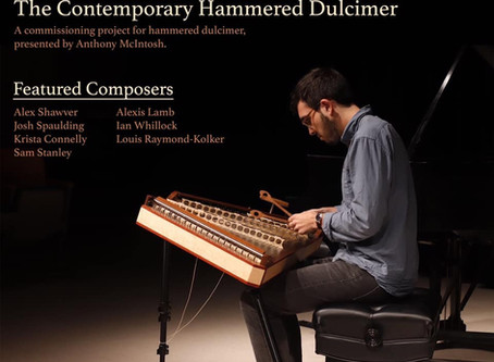 """Anthony McIntosh to Premiere """"An Open Letter to Sam Beam"""" for Solo Hammered Dulcimer with Percussion"""