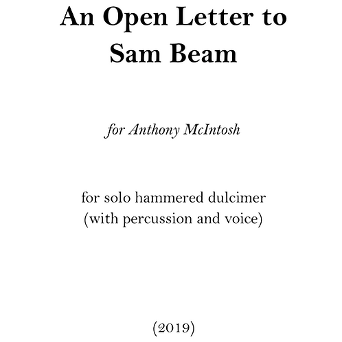 An Open Letter to Sam Beam
