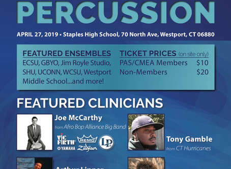 Guest Clinician at the CT Day of Percussion