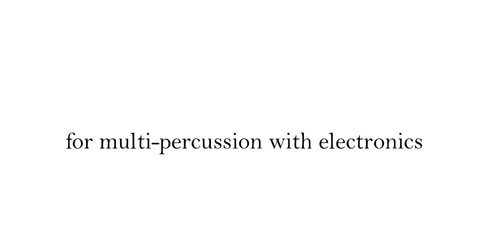 "Ryan Boehme Percussion Recital - public premiere of ""Tihai"""
