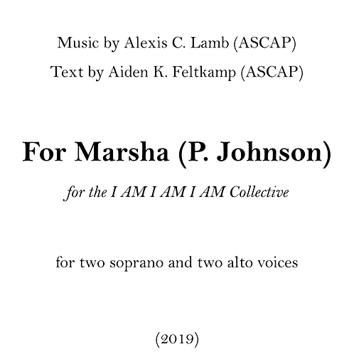 For Marsha (P. Johnson)