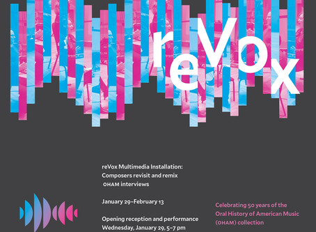 "Opening Night of ReVox Exhibition, Featuring Premiere of ""Attention/Awareness"""