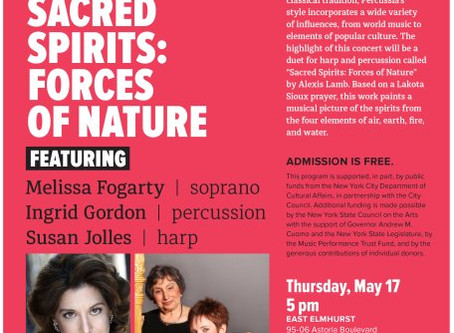 "Two Performances of ""Sacred Spirits: Forces of Nature"" by Percussia at Queens Library Branches"
