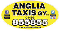 ANGLIA TAXIS GY Oval Sticker PROOF LOW R