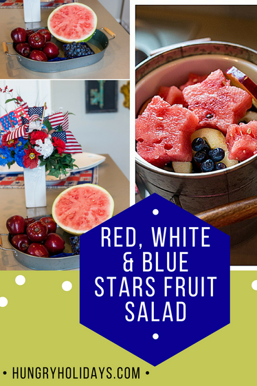 Red, White, and Blue Stars Fruit Salad