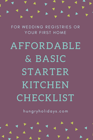 Affordable + Basic Starter Kitchen Checklist- Wedding Registry or First Home Checklist