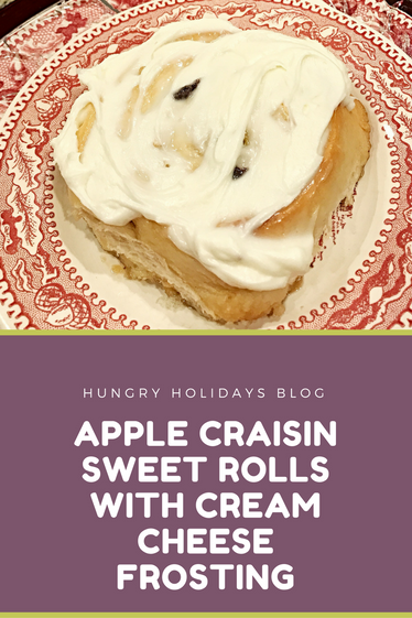 Apple Craisin Sweet Rolls with Cream Cheese Frosting