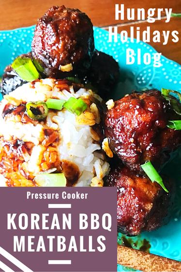 Pressure Cooker Korean BBQ Meatballs