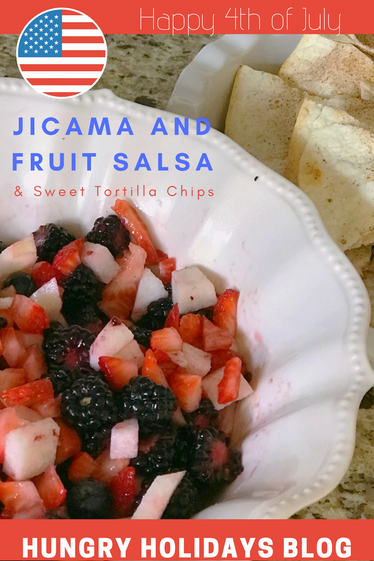 Jicama Fruit Salsa and Sweet Tortilla Chips
