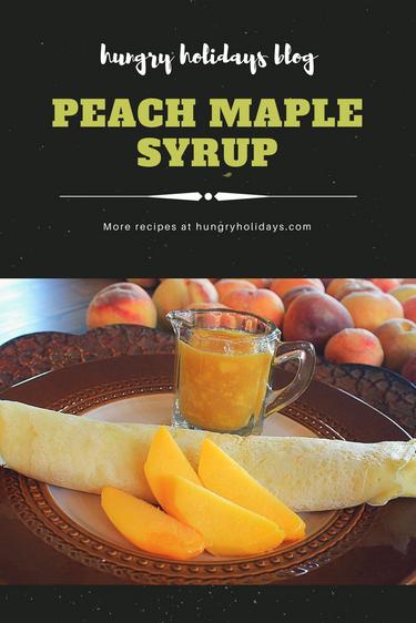 Peachy Maple Syrup