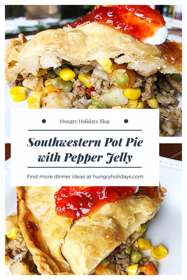 Southwestern Pot Pie with Pepper Jelly