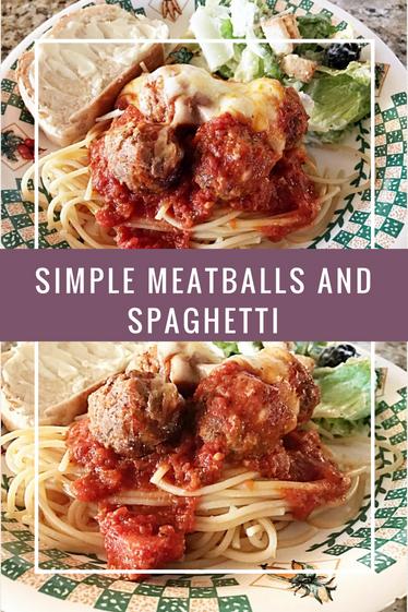 Sunday Dinner Meatballs and Spaghetti