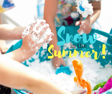 Snow in the SUMMER! | Frozen Themed Activity