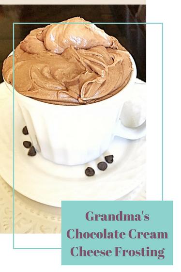 Grandma's Chocolate Cream Cheese Frosting