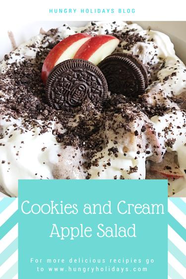 Cookies and Cream Apple Salad
