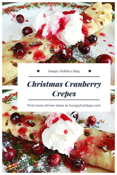 Christmas Cranberry Crepes