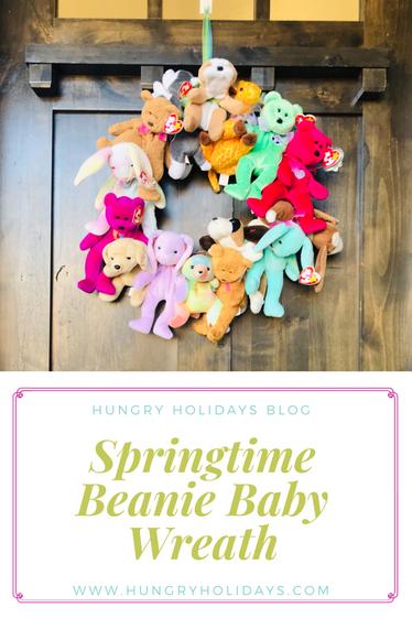 Springtime Beanie Baby Wreath