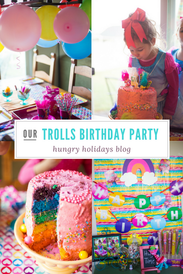 Trolls Birthday Party! Troll Decorations, Cake, Games, and More!