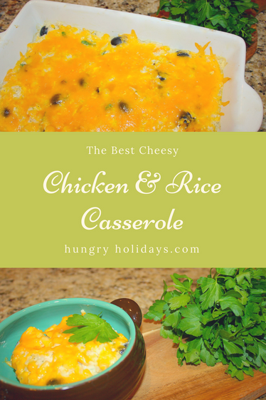 The Best Cheesy Chicken & Rice Casserole
