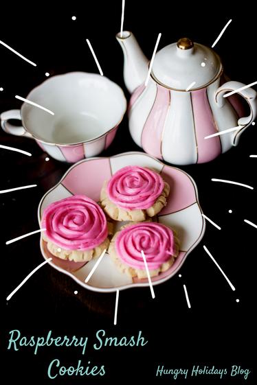 Raspberry Smash Cookies