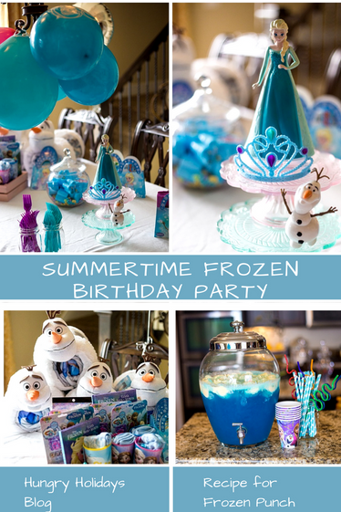 A Summertime Frozen Themed Party